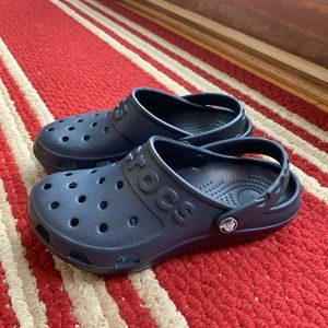 Crocs Navy Blue Slides Sandals Clogs Mules NEW! 6
